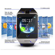 New Update Q18 Apro Bluetooth Smart Watch Waterproof Smartwatch Support NFC SIM Card 1.3M Camera For phone Samsung Android Phone