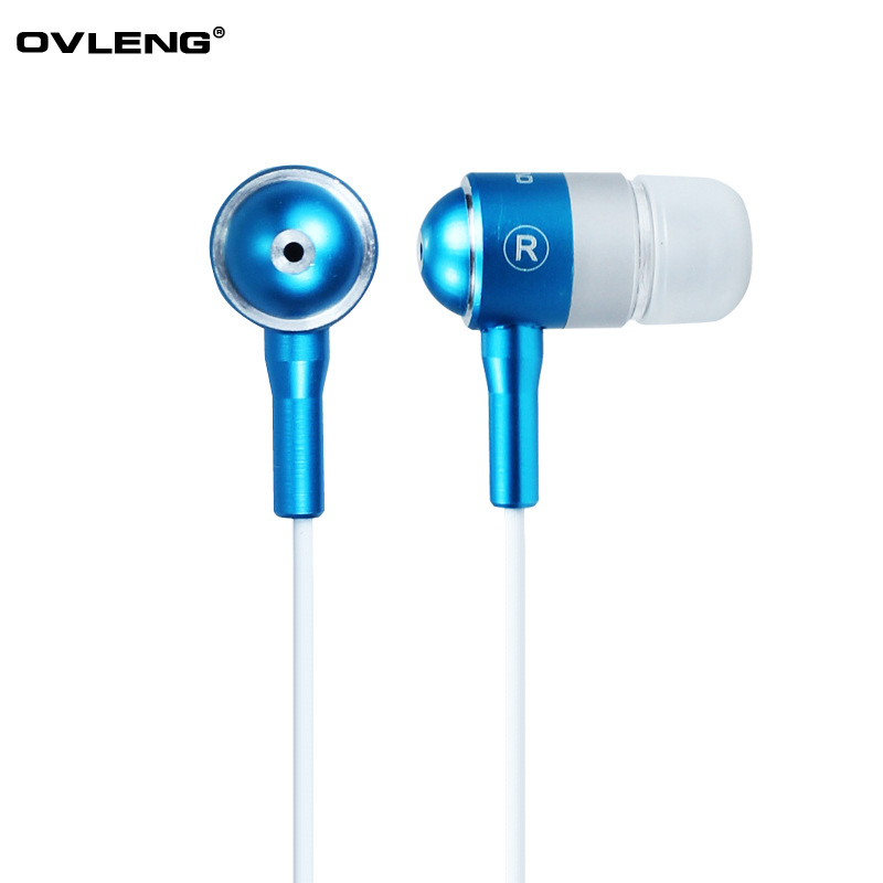Stereo in-ear Earphone metal headset Earbuds 3.5mm with Mic For Cell phone iphone Samsung Mp3 Mp4 Mini headset Free Shipping(China (Mainland))