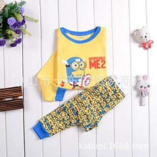 Boys clothing set kids pajamas hot cartton pyjamas home clothing pijama nfantil 2T~7T 2pcs set 100% cotton free