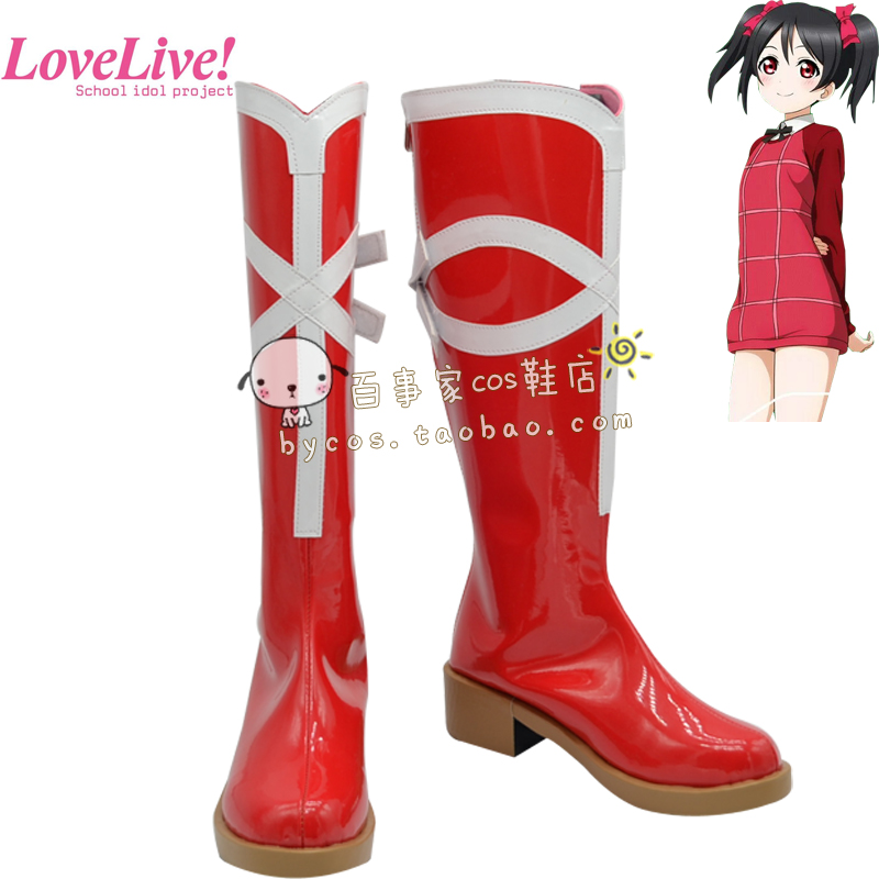Lovelive Nico Yazawa cosplay Shoe Love live Valentines Day cute boots High Quality Custom-made<br><br>Aliexpress