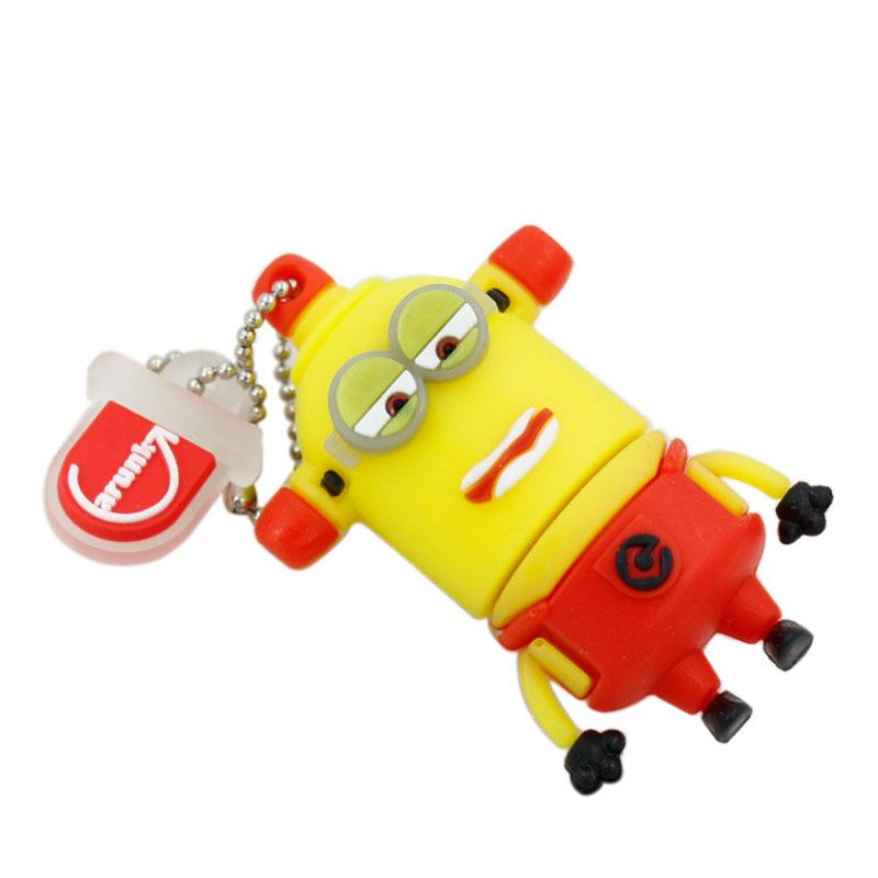 USB Flash Drive 64G USB Flash 32G Pendrive16GB 8GB 4GB Hot Small Yellow People Series Pen Drive USB2.0 Flash Drive Free Shipping(China (Mainland))