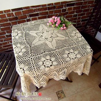 2014 new fashion cotton crochet lace tablecloth for home decor withe flowers table cover towel table runner for wedding