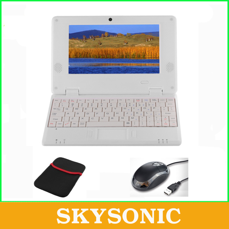 Free shiping 7 inch Android Netbook/Laptop/Notebook Pad Tab with 512MB RAM+4GB ROM, WIFI,HDMI,Dual Core,Free Gift with Mouse+Bag(China (Mainland))