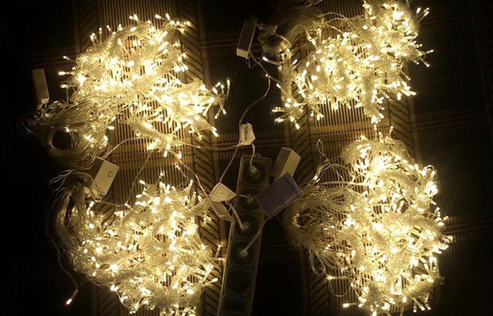 Купить 600 СВЕТОДИОДОВ 6*3 М LED Освещение Праздника Фея 110 В 220 В Красочные Занавес Строка света Свадьба Сад партия Рождество Decora ЕС/США Plug