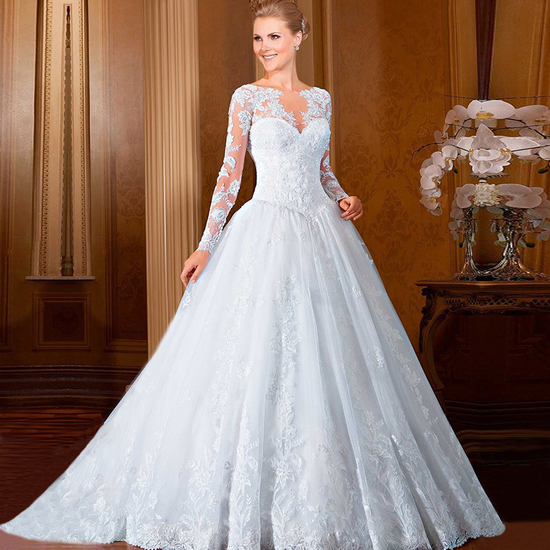 Wedding gowns ball gown vestidos de noiva 2016 western for Lace western wedding dresses