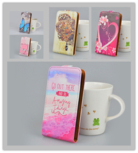 Printing Leather Case For Lenovo S90 Flip Cover Phone Bag 5 Colors in Stock