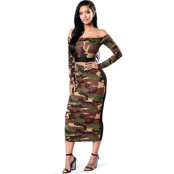 Geometric Prints Camouflage Floral Long Midi Dress Costume Outfit Cloth Dress Set Beautiful Sexy Seductive Vestido Con Bolsillos