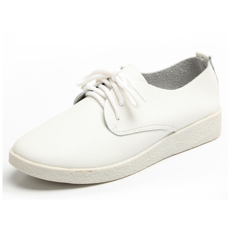 Newest 2015 Oxfords Shoes For Woman Fashion Casual Breathable Flat Oxfords Platform Shoes Zapatillas Mujer Spring White 35-40(China (Mainland))