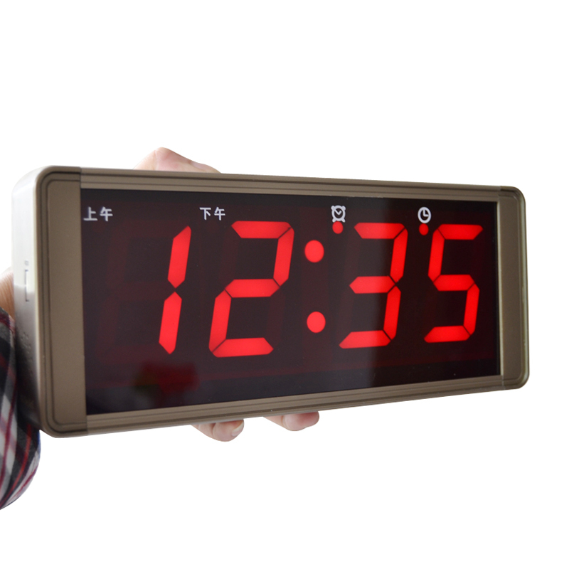 Large screen digital calendar wall clock modern led electronic mute alarm talking - R pao store