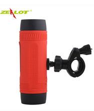 Portable Zealot S1 Bluetooth Speakers 4500mah Power Bank Rechargeable + LED light for Outdoor Sport+bike mountian brackets
