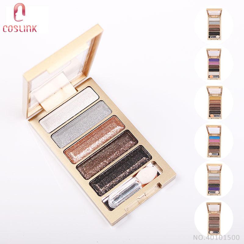 Qiaoyan 5 Tones Shimmer Eye Shadow Diamond Eyeshadow Palette Nude Makeup(China (Mainland))