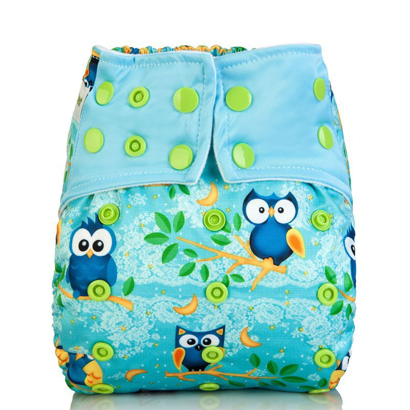 1pcs Reusable Baby AIO Cloth diapers Cover With 3 layers Microfiber Inserts For Baby Boys & Girls Washable Cloth Diaper Nappy(China (Mainland))