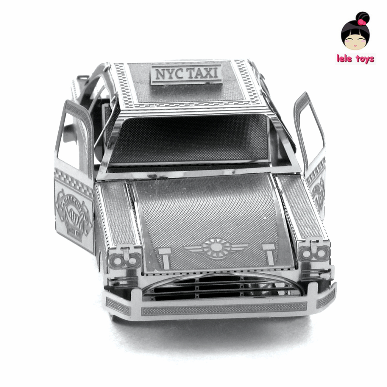VEHICLES 3D Metal Model Puzzles CHECKER CAB Chinese Metal Earth Stainless Steel New York Taxi DIY 1 SHEET<br><br>Aliexpress