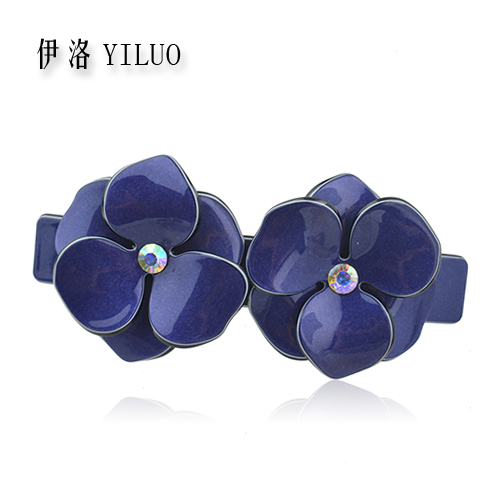 Good Quality Artificail Crystal Flowers For Hair Accessories Floral Hair Clip Barrette Hair Flowers For Women FREE SHIPPING(China (Mainland))