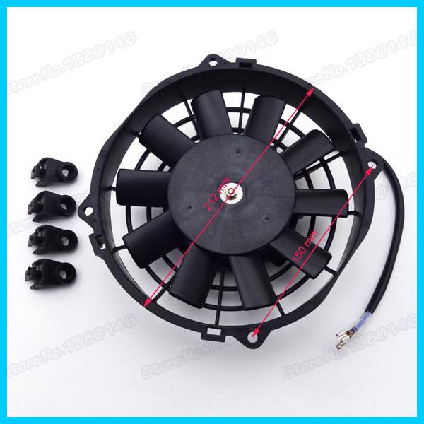 12V 80W Performance Radiator Cooling Fan For Chinese UTV Go Kart Quad ATV Buggy Moped Scooter(China (Mainland))