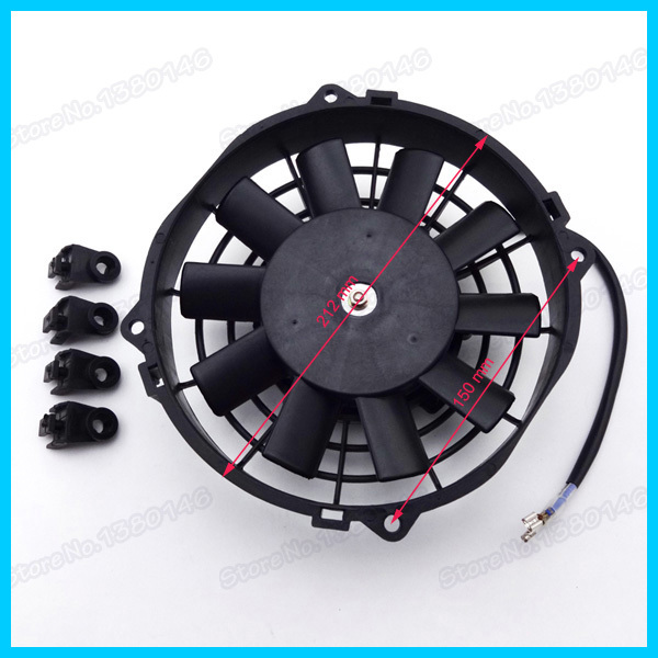 12V 80W Performance Radiator Cooling Fan For Chinese UTV Go Kart Quad ATV Buggy Moped Scooter(China (Mainland))
