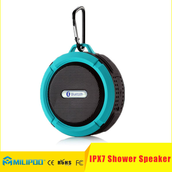 High Quality IPX7 Bluetooth Shower Speaker Wireless Waterproof Stereo Speaker With Suction Cup
