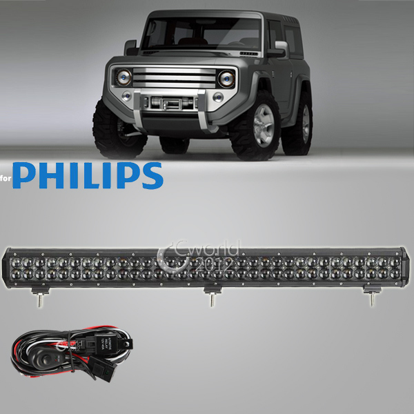 32 Inch 330W Offroad for Philips 4D LED Work Light Bar Combo Beam Spot Flood Light 4x4 Truck ATV Car Auxiliary Bumper Headlight(China (Mainland))