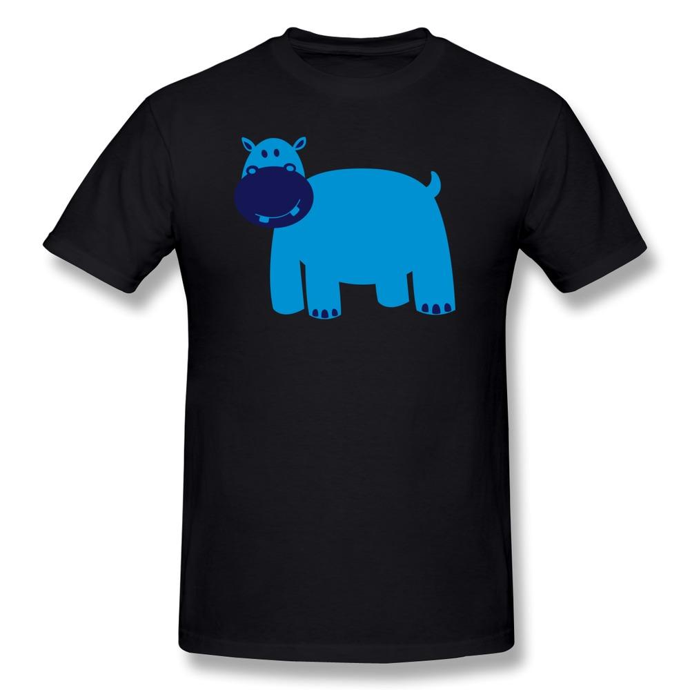 Custom slim fit t shirt mens cute hippo cool high school for Custom high school shirts