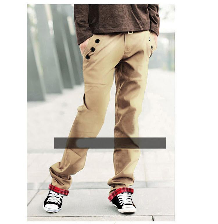 2015 Fashion Candy Color Mens Trousers Casual Men Plaid Slim Pants Spring Pantalones Dress Straight Pant