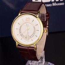 Mujer perfecta relojes, 2015 nuevos relojes, cuero de la correa marca moda, Circular calendario, ocio de moda se contrae y generosa
