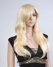 Women's New Fashion Long Wavy Blonde Anime Cosplay Party Full Wig/Wigs Ladies Heat Re sistant Synthetic hair Wigs - meiyan gan's store