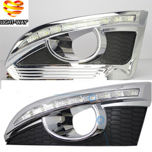 Turn Signal and Turn off style Relay 12V Car LED DRL Daytime Running Lights with fog lamp hole for CHEVROLET CAPTIVA 2011 - 2015(China (Mainland))