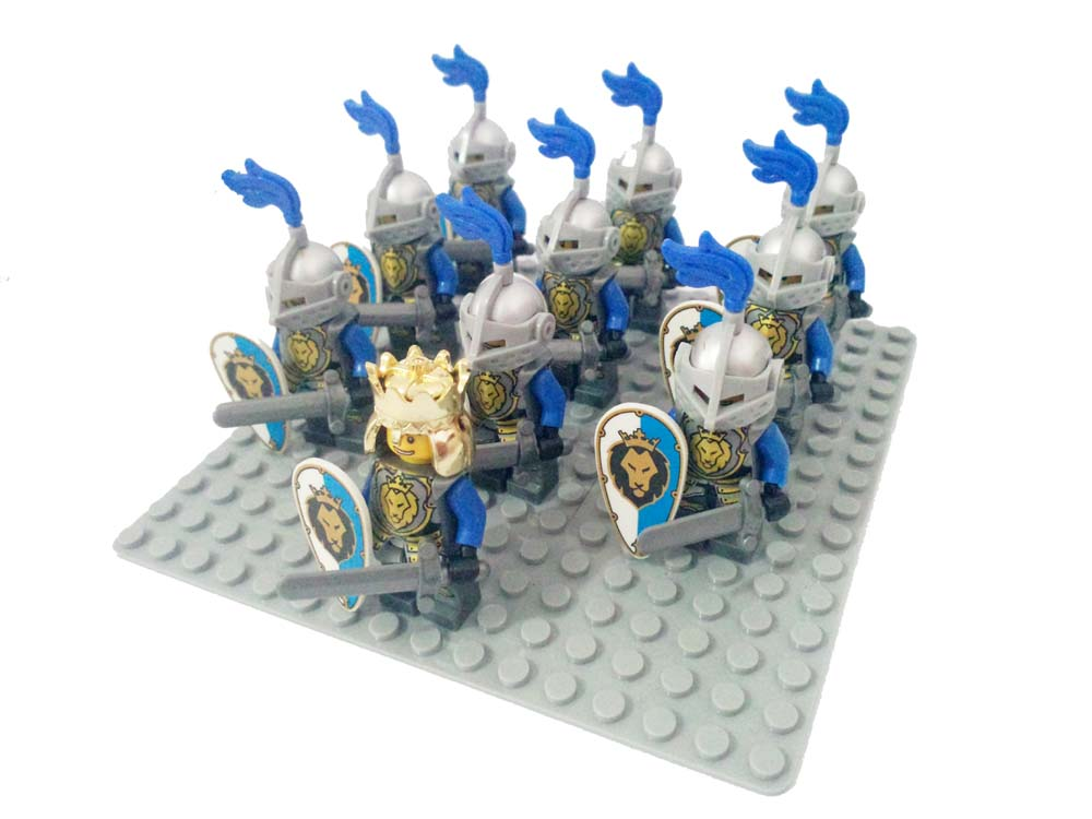 10pcs Castle knights minifigures Lion knights Dragon Slive Hawk compatible lego minifigure Building Block nexo knight Minifig(China (Mainland))