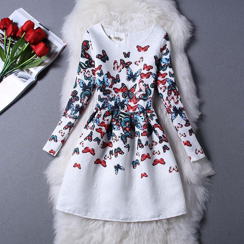 Winter Girl Dress Fashion Jacquard Girls' Knee Length Dresses Girls 12 Years Clothes Long Sleeve Children Girls Dresses(China (Mainland))