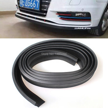 Universal 2.5M TPVC Scracth Resistant Front Bumper Lip Protector Side Door Edge Strip Spoiler For All Cars(China (Mainland))