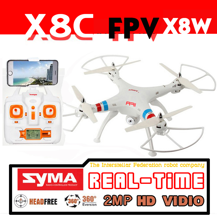 Drone SYMA X8C Upgrade X8C1 FPV drone with camera Live video 4CH 2.4G Quadrotor RC helicoptero quadcopter drones Dron(China (Mainland))
