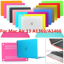 New Smart Rubber Coat Hardshell Hard Case Cover for MacBook Air 13 A1369 A1466(China (Mainland))