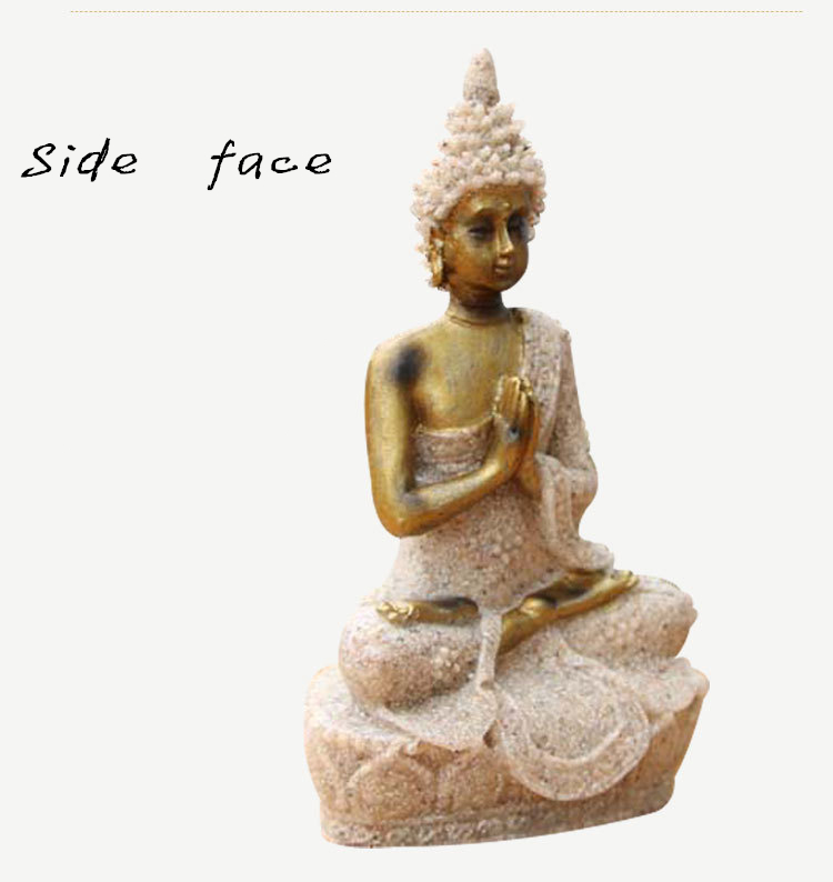 Resin Furnishing Articles Exquisite Meditation Buddha Statue Natural ...