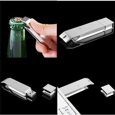 Beer Bottle Opener Metal Flash Drive Real Capacity 1GB/2GB/4GB/8GB/16GB/32GB/64GB USB Flash Drive With Free Shipping(China (Mainland))