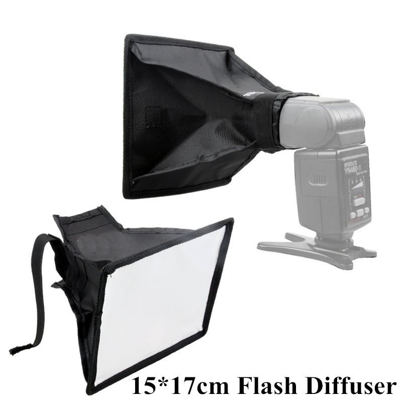 15 * 17cm  Portable Photography Mini Flash Diffuser Softbox Kit for Canon Nikon Sony Pentax DSLR Speedlite Flash<br><br>Aliexpress