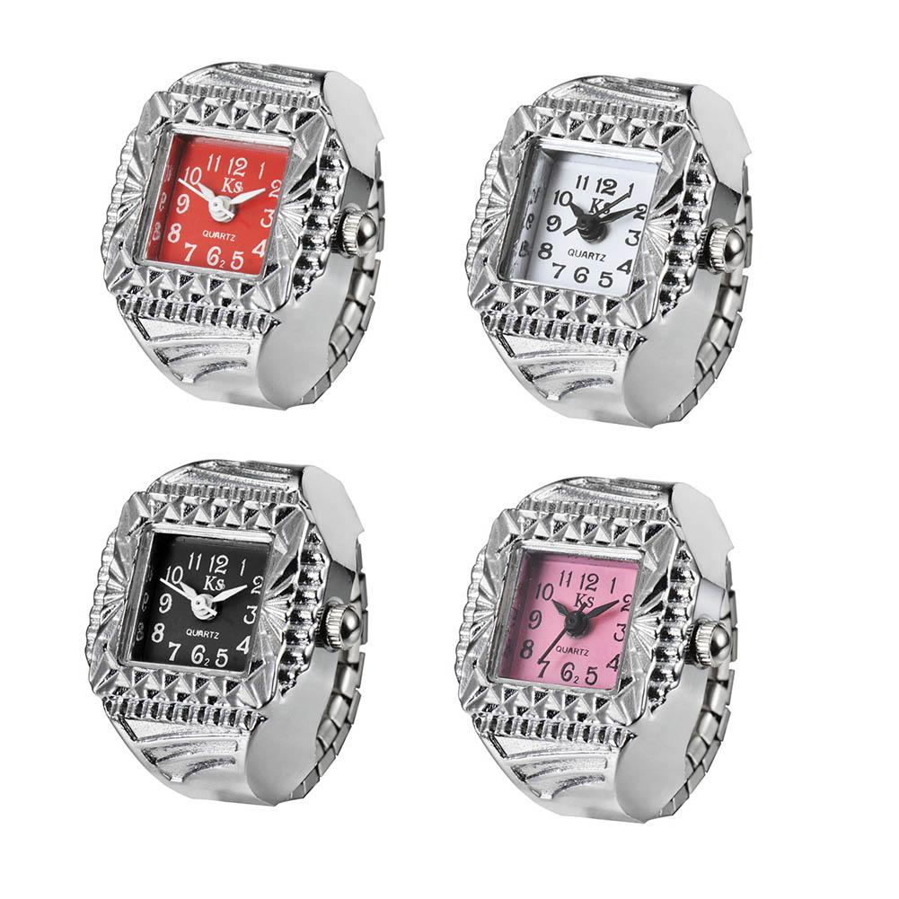 Watch Women Fashion Ladies watch Quartz Watch Square Pattern Ring Watch