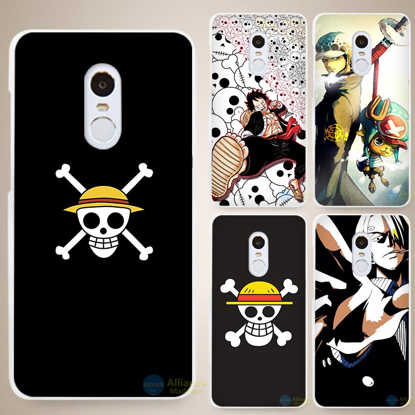 One Piece strong world Hard White Cell Phone Case Cover for Xiaomi Mi Redmi Note 3 3S 4 4A 4C 4S 5 5S Pro(China (Mainland))
