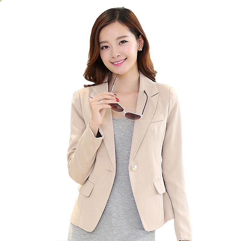 women blazer spring outwear office dress professional coat fashion brand blazers feminino white collar clothing size S-4XL W015(China (Mainland))