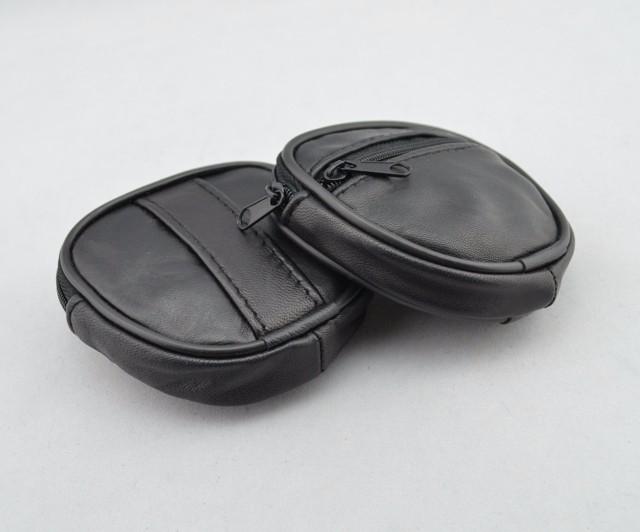 Mini Men's genuine Leather Waist Belt Loops Bag Coin Pocket Case Wallet  (1)