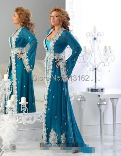 Robe soiree longue avec manche longue