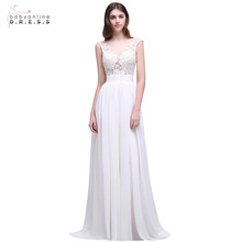 Buy Cheap Simple Beach Wedding Dresses 2017 Sexy Cap Sleeve Boho Chiffon Lace Appliques Bridal Gowns Bride Dress Robe De Mariage for $62.10 in AliExpress store