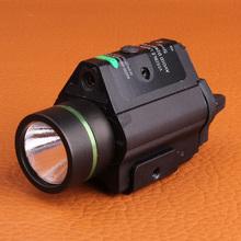 3w-L металлический корпус тактический маленький зеленый лазер 250 lumens белый свет фонарика для охоты