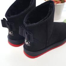 Nueva llegada de moda 2015 mujeres botas de invierno botas de nieve 2015 moda caliente Ladies bowtie nieve mujer botas botas de nieve zapatos(China (Mainland))