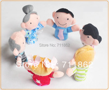 ship by EMS free Family Finger puppet  Cloth toy Baby stories helper doll 6 design Christmas(China (Mainland))