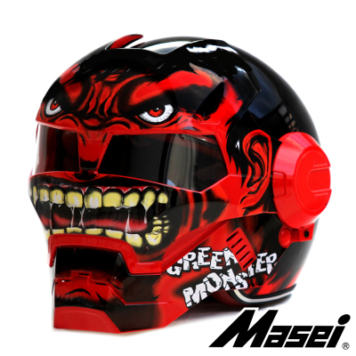 ECE Approval Ironman Motorcycle Helmet Skull Motorbike Capacete Casco Masei 610(China (Mainland))