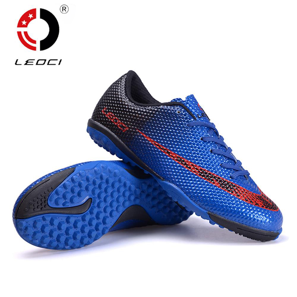 LEOCI Ergonomics TF Soccer Boots Turf Football Shoes Football Cleats Crampons De Football Unisex For Adult Kids Boys Size 33-44(China (Mainland))