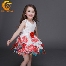 3-12T Girls Summer Dress Flower Girls Dresses For Party And Wedding Baby Girl Kids Princess Dress Girls Costumes For Teenagers
