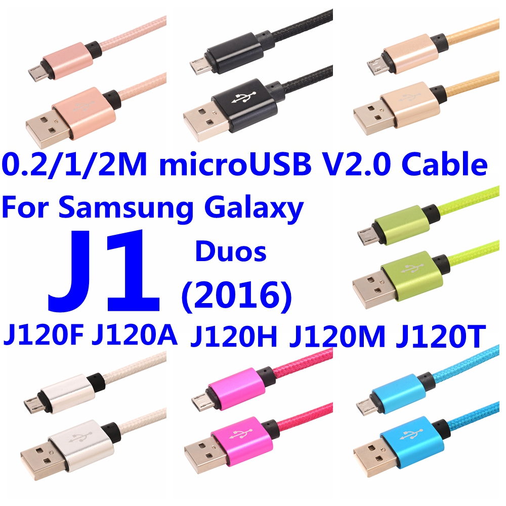 For Samsung Galaxy J1 (2016) Duos J120F Express 3 J120A J120H J120M J120M J120T MicroUSB V2.0 USB For Android Strong Nylon Cable(China (Mainland))