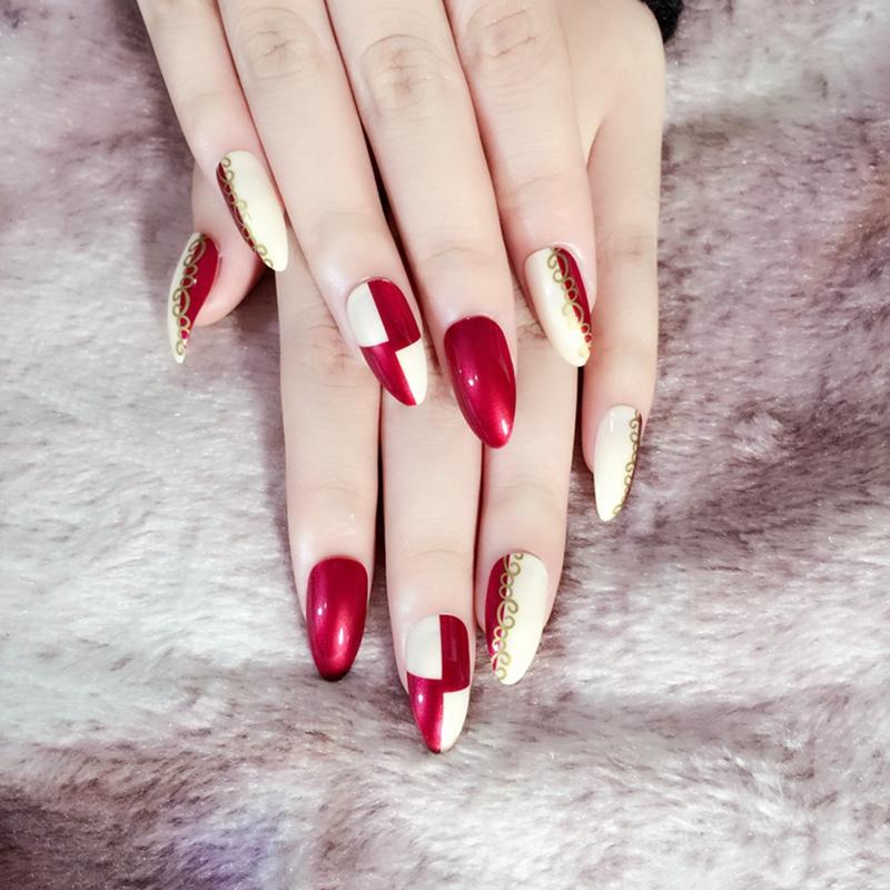24pcs Beautiful Acrylic False Toes Tips Toenails Sexy Pure