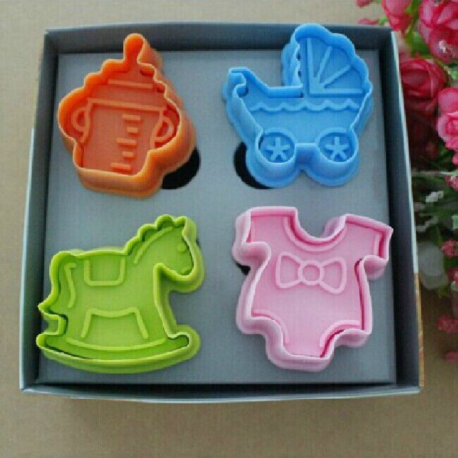 Free Shipping 3D Trojians/Bottle/Stroller/Children's Wear Based Cake Mold Cookies Bakeware Pastry Decorating Mould Tools 03066(China (Mainland))
